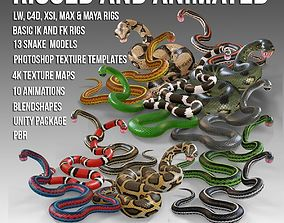 3D model Animated Snakes PBR Ultimate Vol 1