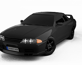 3D model Nissan Skyline GTR R32 Interior Game Ready