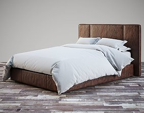 3D RH leather platform bed