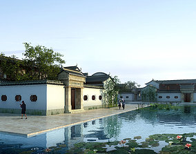 3D model exterior Chinese Style Architecture