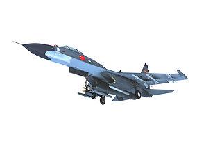 J11 J 11B Su33 Sea Flanker Flying 3D model