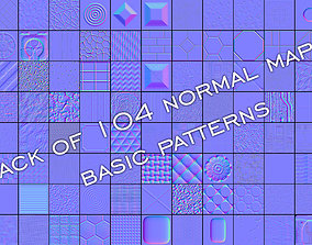 3D Pack of 104 normal maps basic patterns