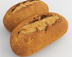 Photorealistic Bread 3D asset