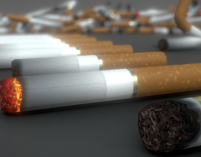 3D model Low-Poly Cigarette Package