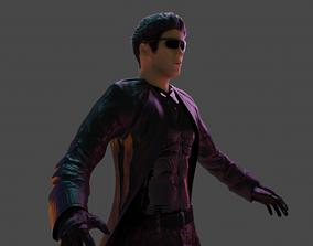 3D asset Cyberpunk figure none rigged
