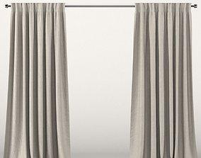 3D Beige curtains