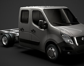 3D model Nissan NV400 CrewCab DW E20 Chassis 2020