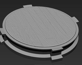 Decorative Wooden Base Stand for 3D printable model