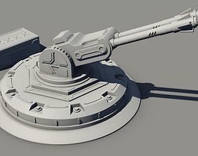 Sci-fi cannon with container 3D