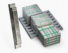 Aluminium Zinc Nickel Silver Titan Steel ingot 11 3D