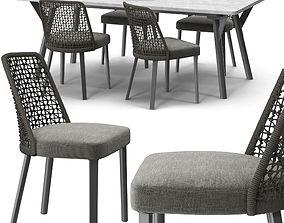 Varaschin Emma chair Link table 3d model