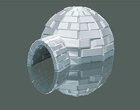 Snow Igloo 3D asset