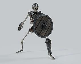 3D asset animated Skeleton Warrior