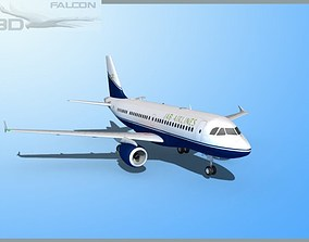 rigged Falcon3D A319 JAB Airlines