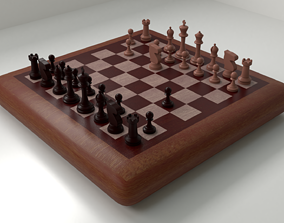 3D Wooden Chess Board