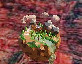 Floating Island 3D model realtime