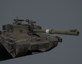 3D model Challenger 2 and challenger 2 TES pack