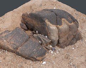 Photoscan Beach Rock 0012 only HighPoly Mesh 16K 3D