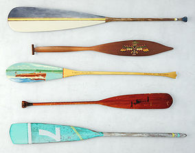 Vintage Oars and Paddles 3D
