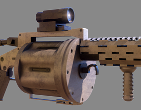VR / AR ready grenade launcher 3d model