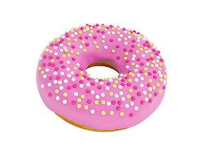 3D model Pink glazed donut