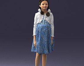 Girl in dress 0809 3D