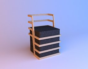 3D Laconic armchair wood-cloth