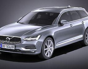 3D model Volvo V90 Estate 2017 VRAY