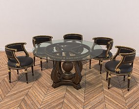 3D model European Style Carving Dinning Table 2