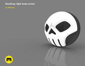 3D print model Roadhog right knee armor
