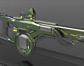 Concept Sci fi rifle 3D model