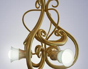 3D model Classic 3-Arm Ceiling Chandelier