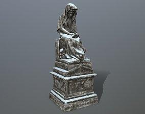 statue 1 3D asset game-ready