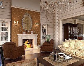 3D model Big House Interior Scene