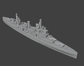 3D print model British County London Class Cruiser