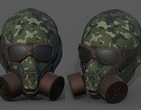 Gas mask helmet 3d model military combat game-ready 1