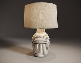 Himba Textured Abstract Table Lamp 3D
