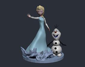 3D printable model covid elsa frozen