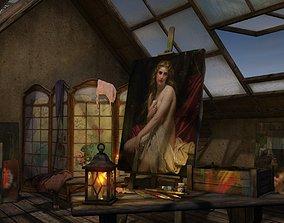 Atelier in the attic 3D
