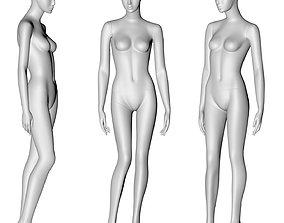 fashion female mannequin 3d print model