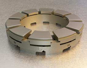 3D model Tilting Pad Thrust Bearing
