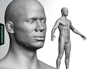 Average Black Male Body Basemesh 3D model