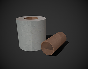 Toilet Paper 3D asset game-ready