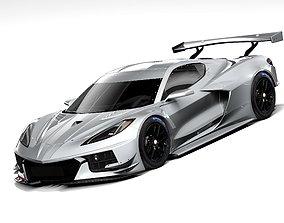 3D model Chevrolet Corvette C8R racing 2020