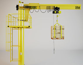 3D model Lifting Crane Console