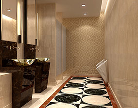 Hotel Toilet Design 3D model