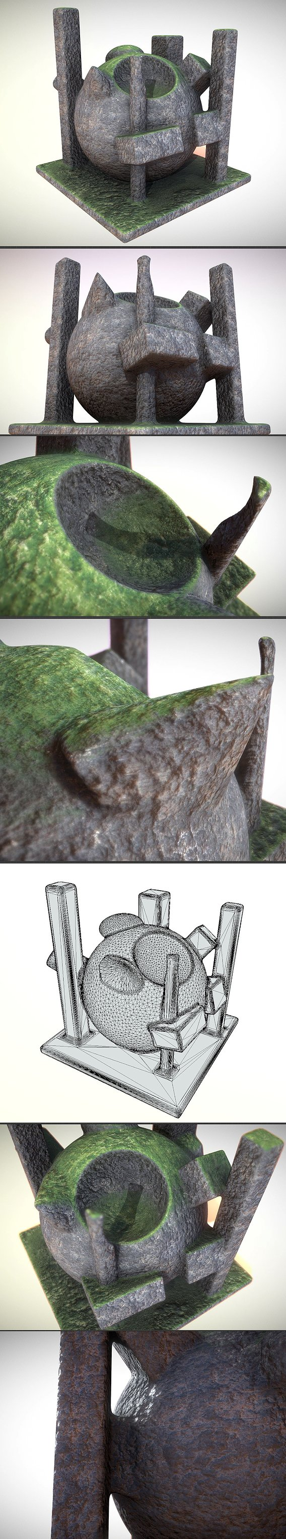 Moss on Rock (Baked Textur Test) Blender-2.92