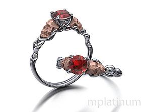 Skull Engagement ring Own design 3dmodel