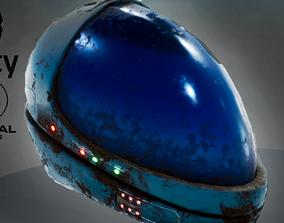 Sci fi helmet 4 different textures 3D asset