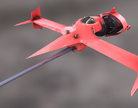 Swordfish monoracer 3D asset